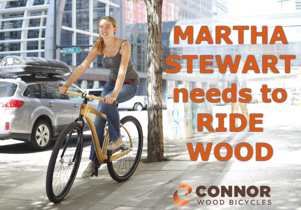 Martha Stewart rides wood